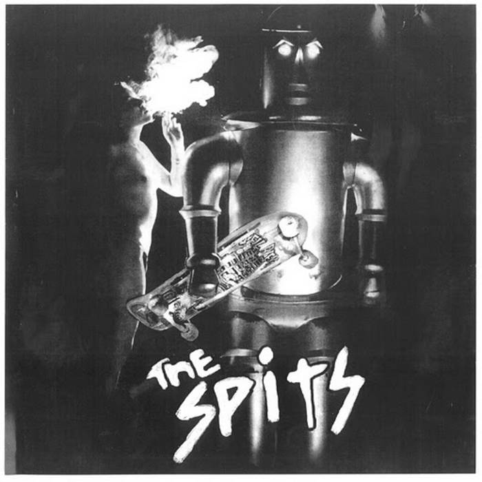 """THE SPITS """"self-titled #1"""" LP cover art"""