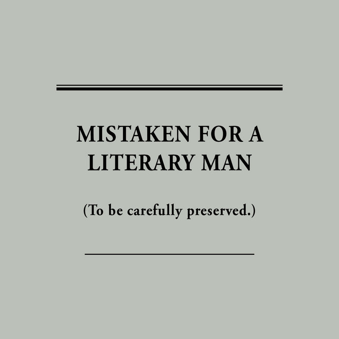 Mistaken For A Literary Man cover art