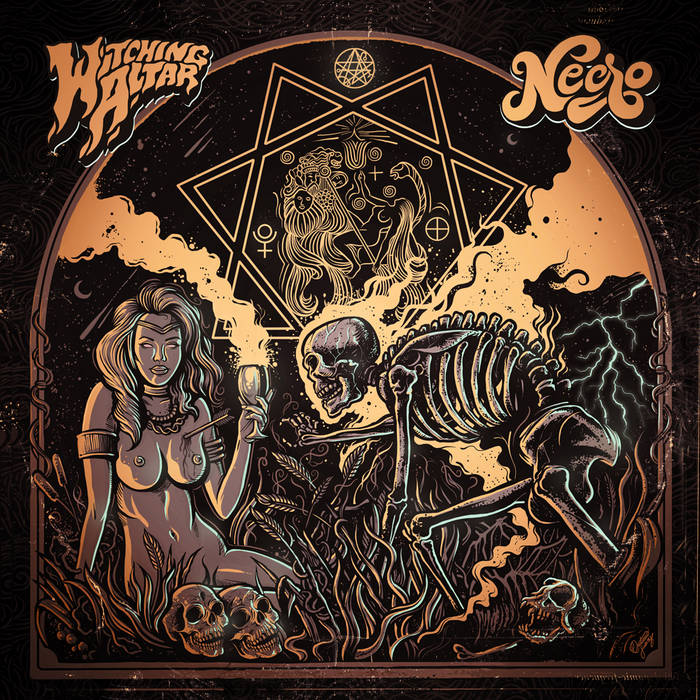 Witching Altar / Necro (split EP) cover art