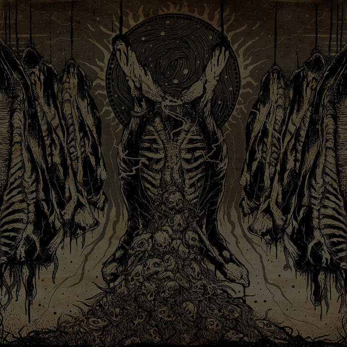 """Meatpacker / Death Tripper split 7"""" cover art"""
