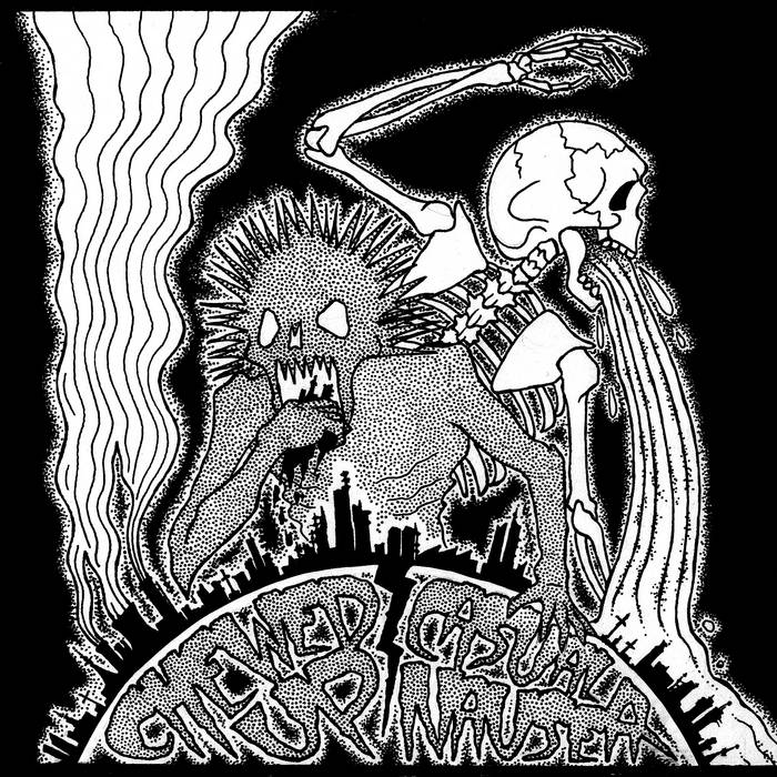 Chewed up/Casual Nausea split album cover art