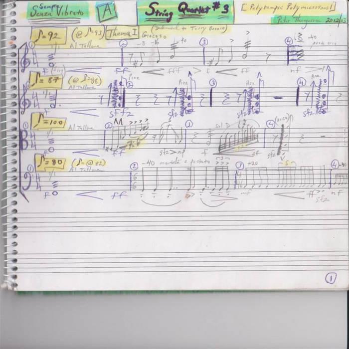 String Quartet #3 A Polytempic Polymicrotonal Work for String Quartet cover art