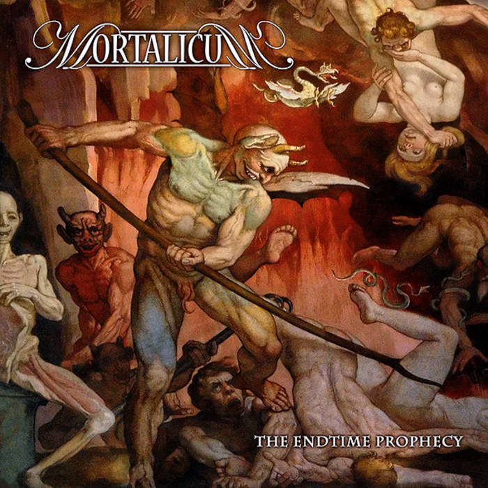 "MORTALICUM ""The Endtime Prophecy"" cover art"