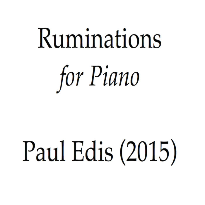 Ruminations for Piano cover art