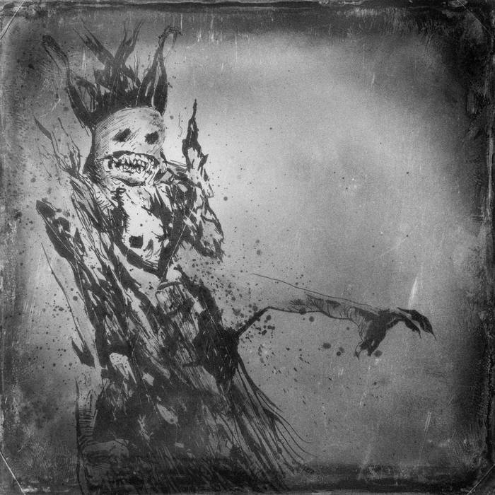 """VERMAPYRE •split 7"""" with Saturnian Temple cover art"""