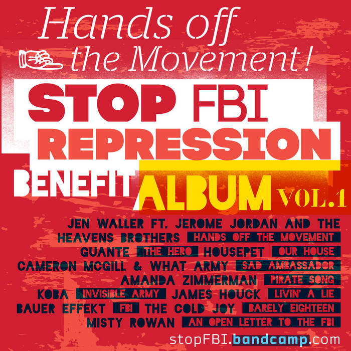 STOP FBI REPRESSION Benefit Album, Vol.1 cover art