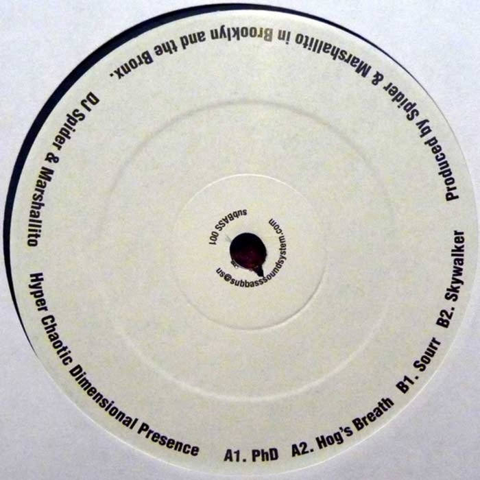"""Hyper Chaotic Dimensional Presence"" DJ Spider & Marshallito (12"" Vinyl) cover art"