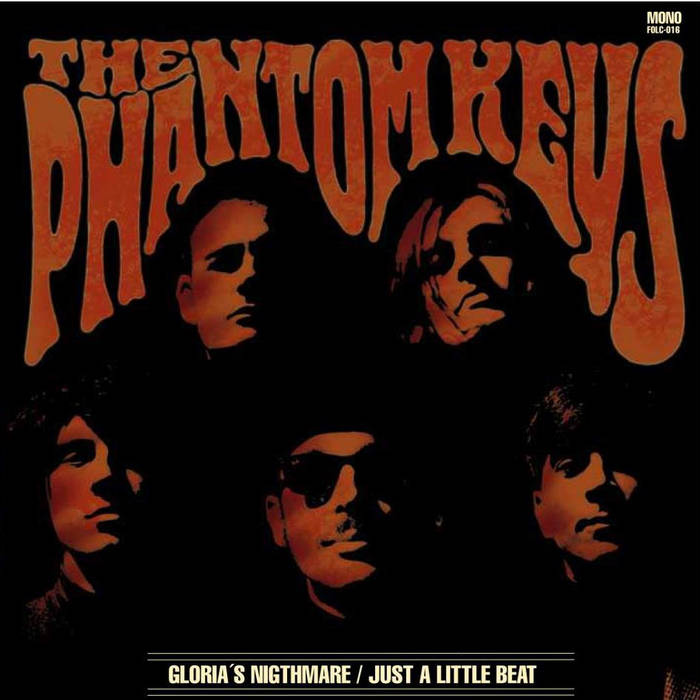 "FOLC016-THE PHANTOM KEYS- Gloria's Nightmare/Just a Little Beat (7"") cover art"