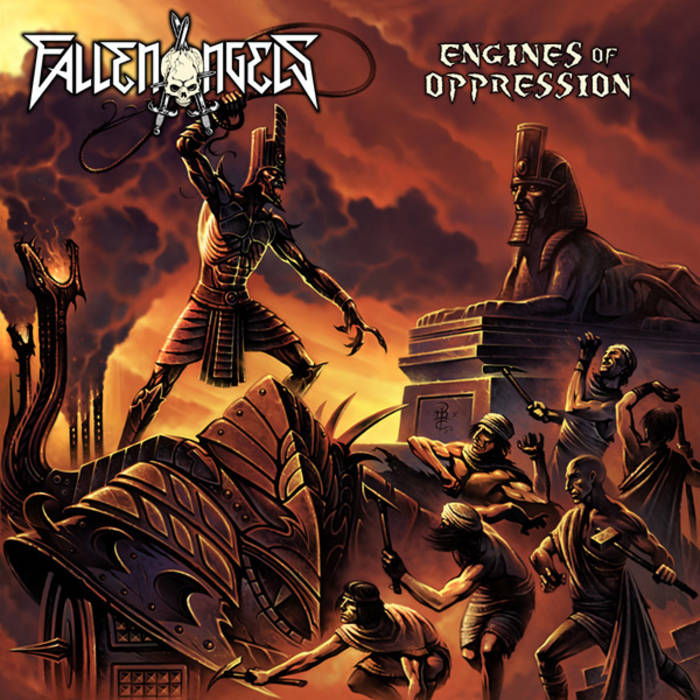 "FALLEN ANGELS ""Engines Of Oppression"" cover art"