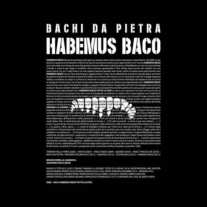 HABEMUS BACO cover art