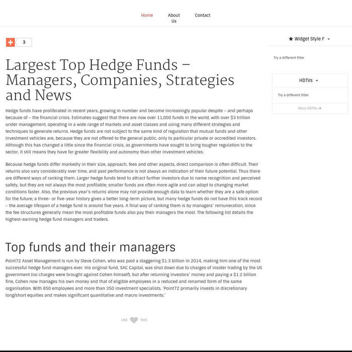 Top Hedge Funds cover art