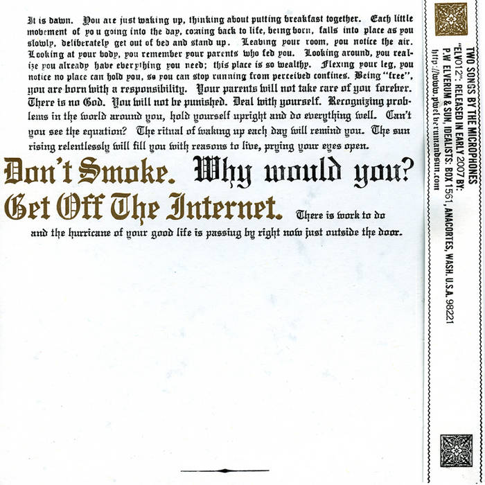 "Don't Smoke/Get Off The Internet 7"" cover art"