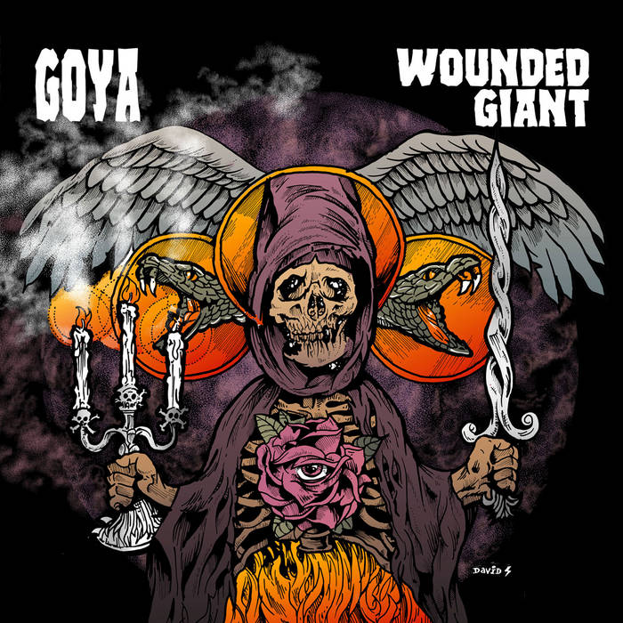 Wounded Giant Split LP cover art