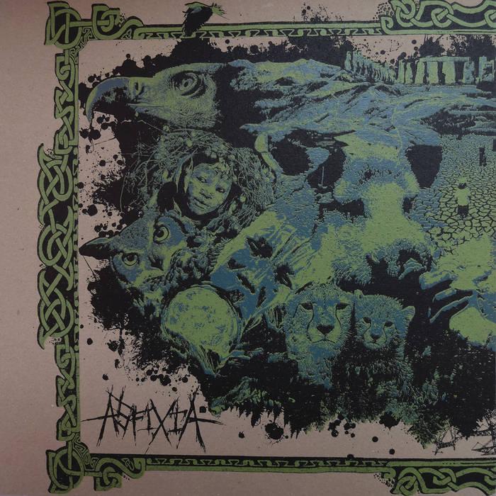 ASFIXIA / ANNUNAKI REVENGE - split LP cover art