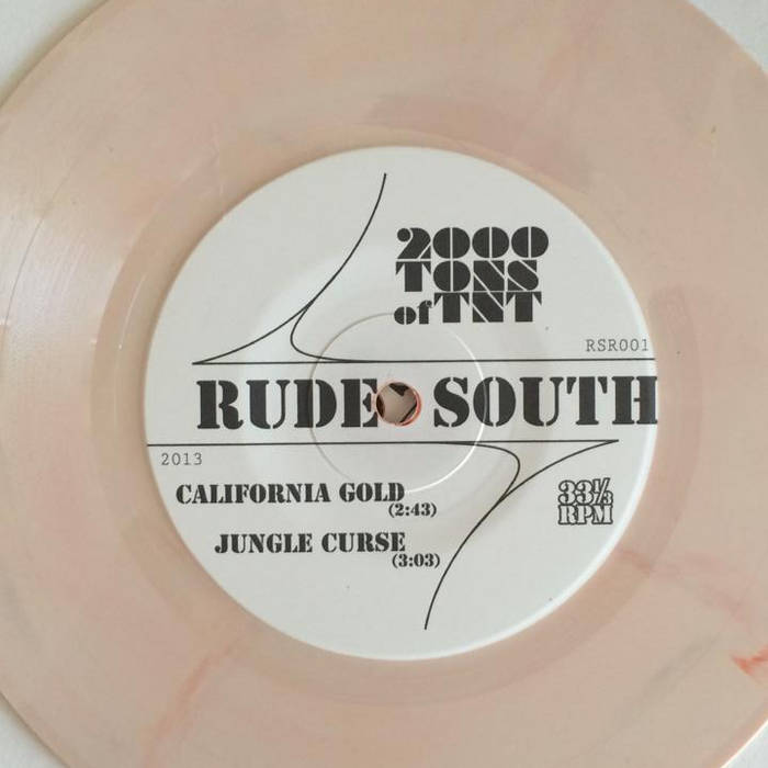 "Rude South 7"" split w/ The Combos (vinyl sold out) cover art"