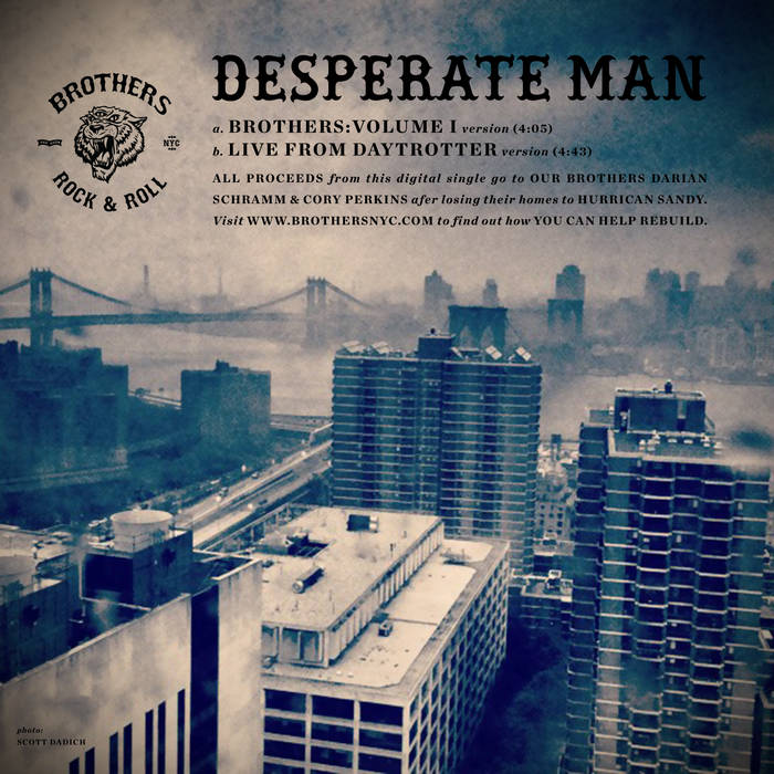 Desperate Man / Benefit Single for Darian Schramm and Cory Perkins cover art