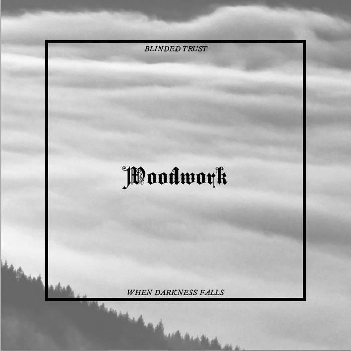 "DYING/WOODWORK split 7"" cover art"