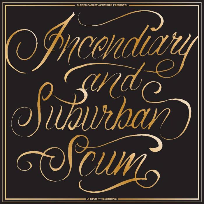 """Suburban Scum split 7"""" cover art"""