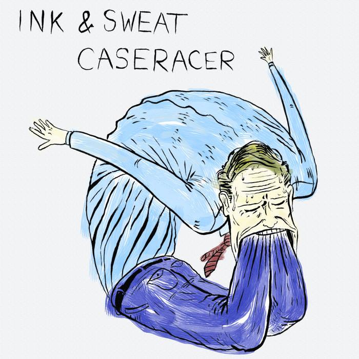 "Ink & Sweat/Caseracer Split 7"" cover art"