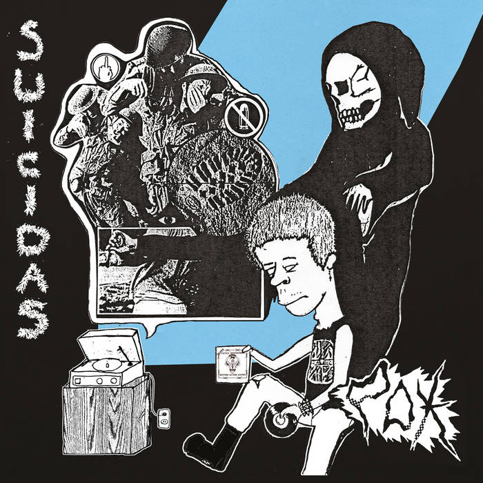 POX/SUICIDAS split ep cover art