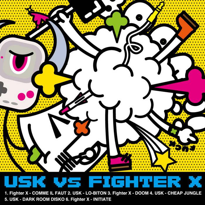 USK v.s FIGHTER X cover art