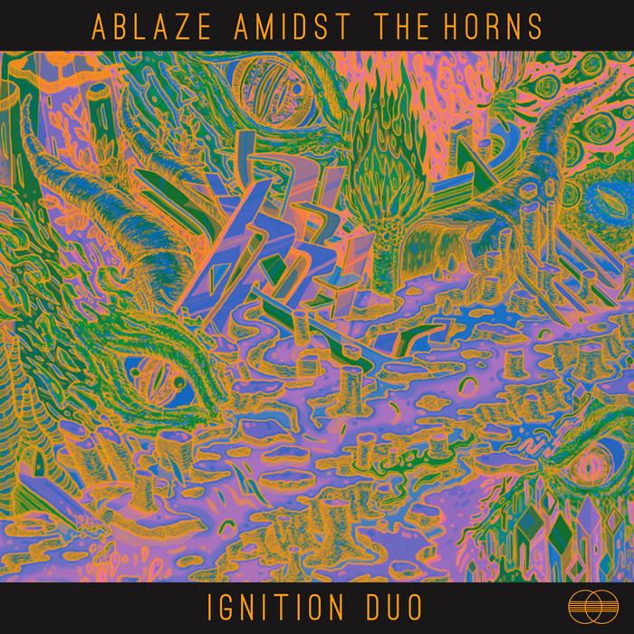 ABLAZE AMIDST THE HORNS cover art