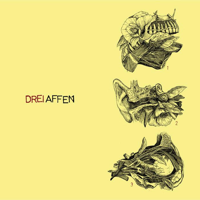 "Drei Affen ""Self-titled"" EP cover art"