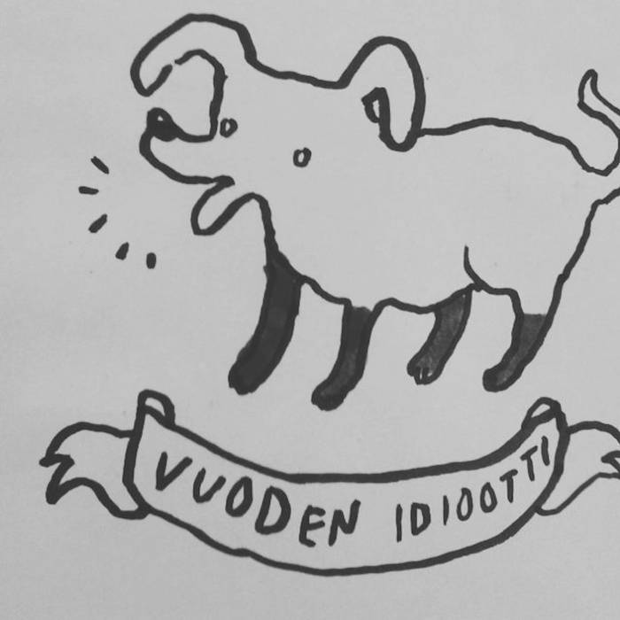 Vuoden idiootti -ep cover art