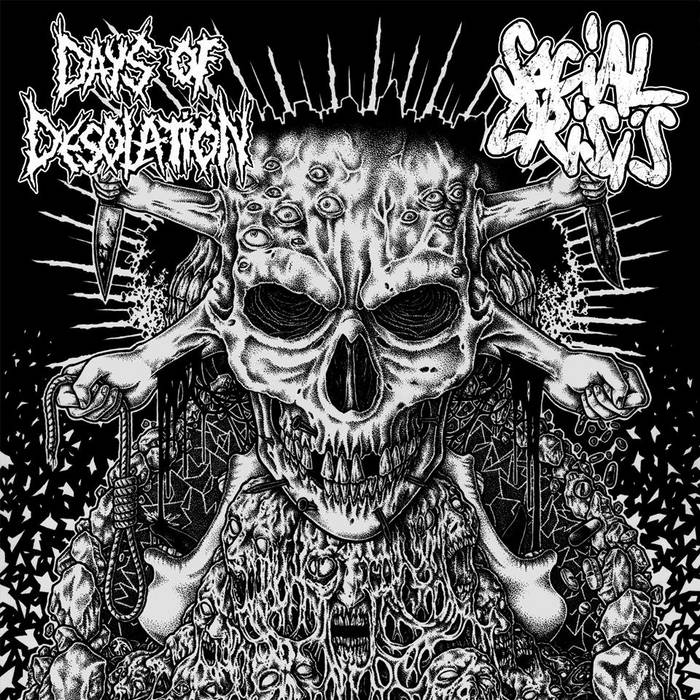 "split 7""EP with DAYS OF DESOLATION (out now!) cover art"