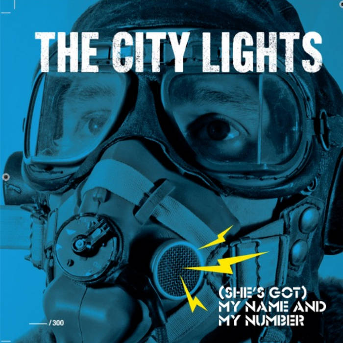 "7"" SINGLE. Side AA: (She's Got) My Name and My Number by The City Lights. Side A: Fay Ray by The Exile Co. cover art"