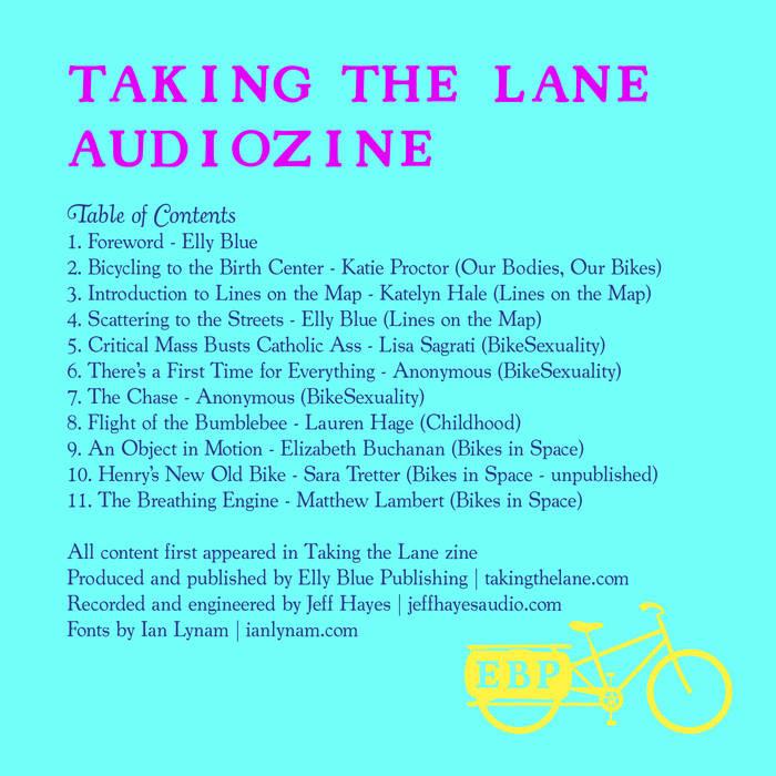 Taking the Lane Audiozine cover art