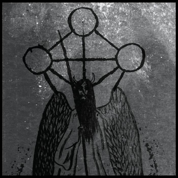 "EXCESSUM / ORCIVUS ""The Hidden God"" split EP cover art"