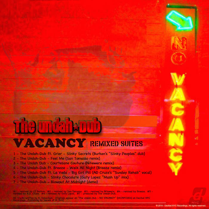 The Undah-Dub - Vacancy (Remixed Suites) cover art
