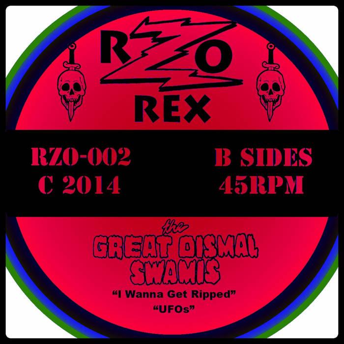 "GREAT DISMAL SWAMIS  ""Phantom Tollbooth 45"" _____RZO-002 cover art"