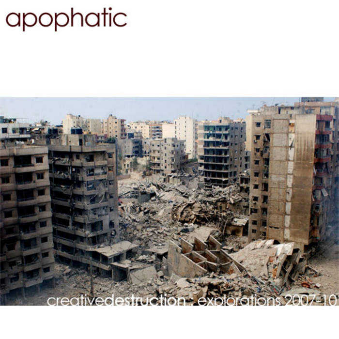 creativedestruction: explorations '07-10 cover art