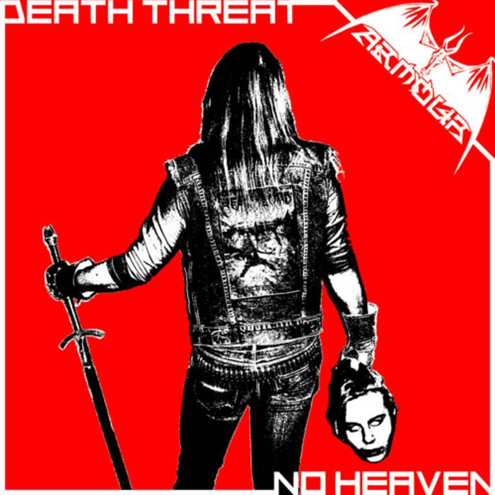 """Death Threat / No Heaven 7"""" cover art"""