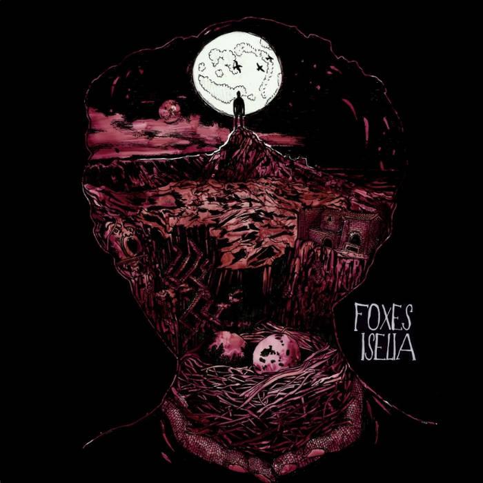 """DK028: Foxes / Iselia - Split 12"""" LP cover art"""