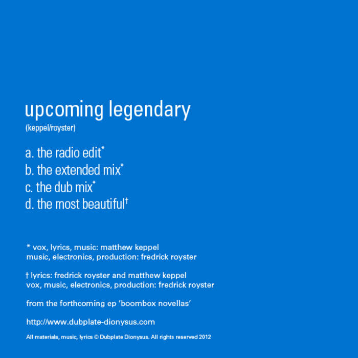 Upcoming Legendary (Mixes) cover art