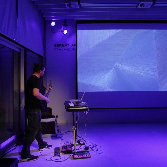 pulpo! live act@'Bernát András: Szalagarchitektúrák II.' exhibition opening cover art