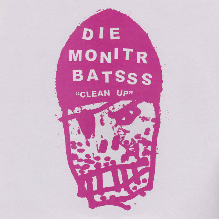 "Die Monitr Batsss / Les Georges Leningrad split 7"" cover art"