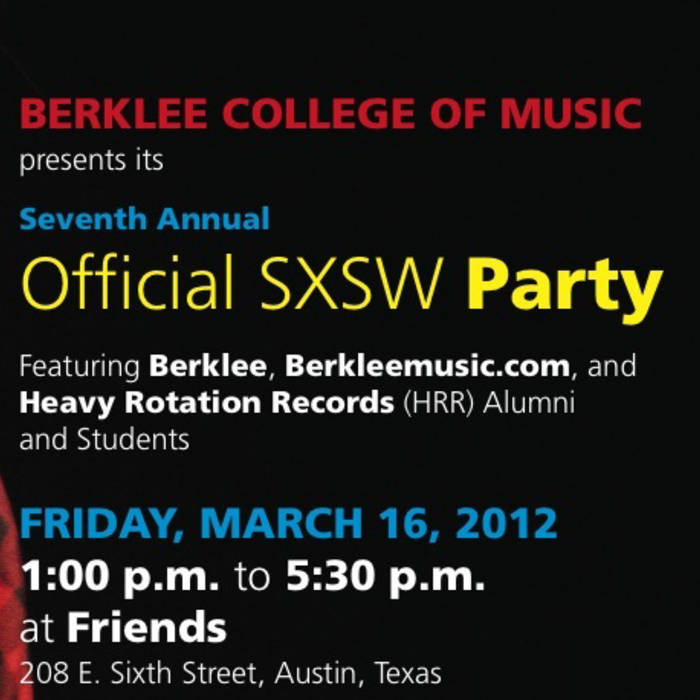 Berklee SXSW Party Sampler (2012) cover art