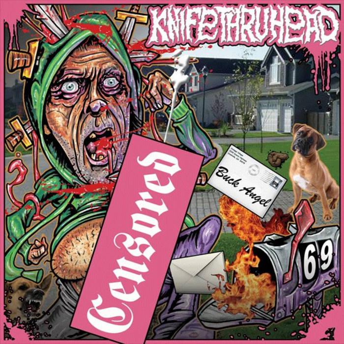 """Knifethruhead / Casket Blaster Split 7"""" cover art"""