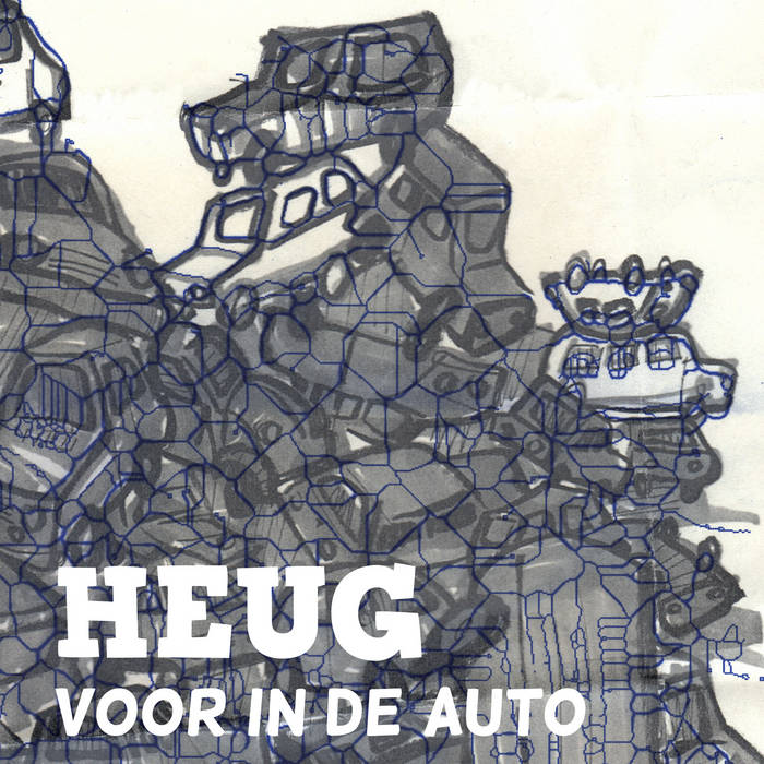 Voor in de auto cover art