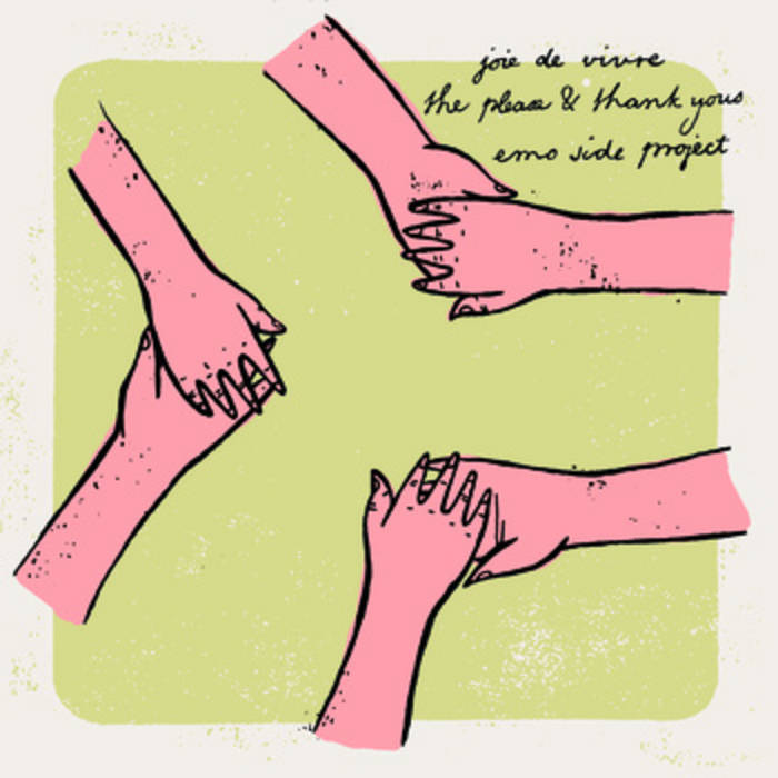 """Joie de Vivre / The Please & Thank Yous / Emo Side Project Split 7"""" cover art"""