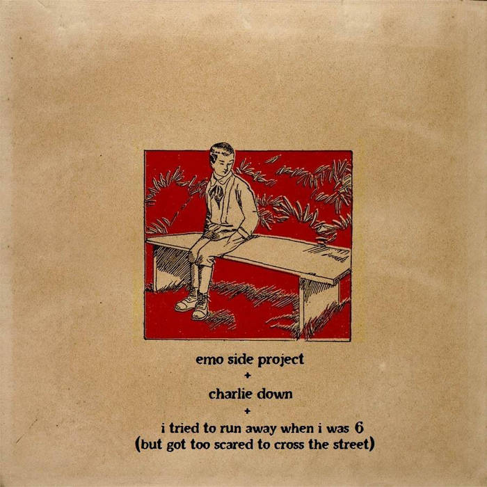 split w/ emo side project and charlie down cover art