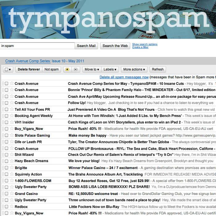 Crash Avenue Comp Series: Tympanospam cover art