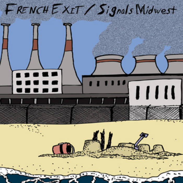 "French Exit/Signals Midwest Split 7"" cover art"