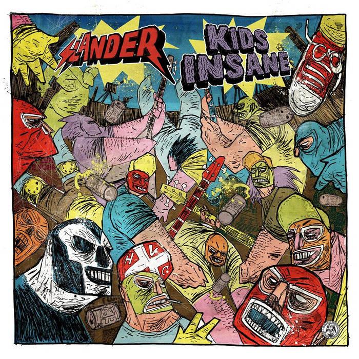 """Kids Insane / Slander Split 12"""" cover art"""