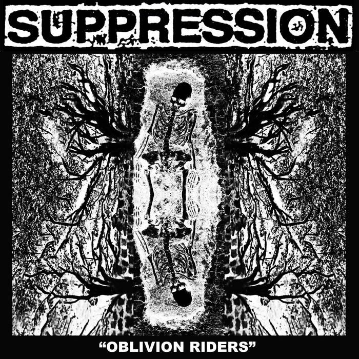 """SUPPRESSION """"Oblivion Riders"""" cassette cover art"""