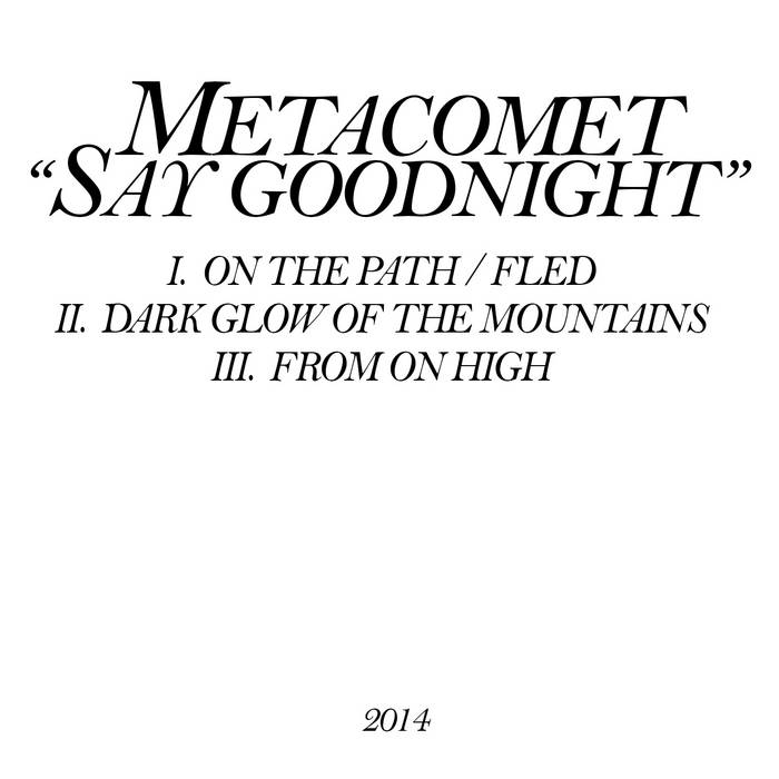 Say Goodnight cover art